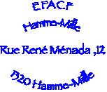 Logo de l'école fondamentale de la communauté française avec adresse